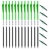 KAYDON 20 Inch Crossbow Bolts and Crossbow Broadheads Set,Carbon Hunting Archery Arrows with 4' vanes Moon Nocks and 6pcs Replaced Hunting Broadheads