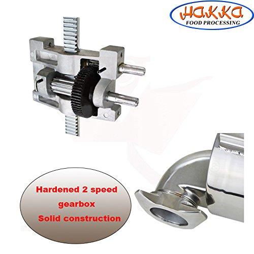 Product Image 7: Hakka 7 Lb/3 L Sausage Stuffer 2 Speed Stainless Steel Vertical 5-7 Lb Sausage Maker by HAKKA BROTHER