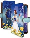らくらくスマートフォン F-42A ケース 手帳型 携帯ケース 白雪姫 魔女 お姫様 おしゃれ ラクス……