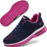 Autper Women's Air Athletic Tennis Running Sneakers Lightweight Sport Gym Jogging Breathable Fashion Walking Shoes(Rose US 8.5)