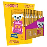 Tiki Dog Stix Grain Free Wet Treats & Lickable Gravy, Food Topper or Snack, Chicken 3oz 12 Pack