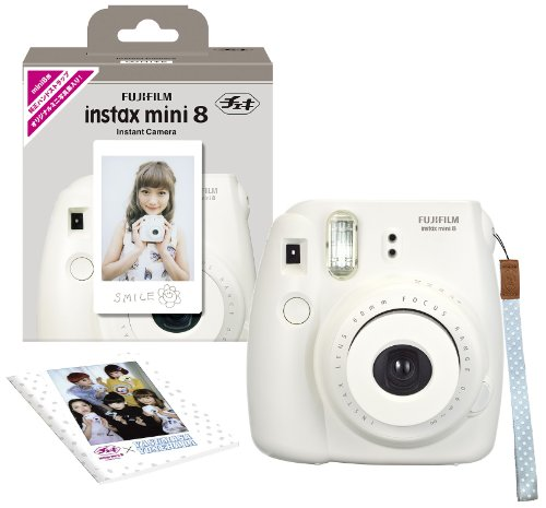 FUJIFILM インスタントカメラ チェキ INS MINI 8 純正ハンドストラップ付き ホワイト INS MINI 8 WHITE N