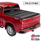 BAK BAKFlip MX4 Hard Folding Truck Bed Tonneau Cover | 448227 | Fits 2019-20 New Body Style Dodge Ram 1500, Does Not Fit With Multi-Function (Split) Tailgate 5'7' Bed
