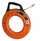 Fish Tape 100-Foot is Non-Conductive Fiberglass, Flexible for Conduit Measuring as Pull Line Klein Tools 56010
