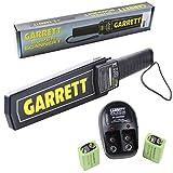 Garrett Super Scanner V Hand Held Metal Detector w/ 9V Rechargeable Battery Kit