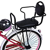 RANRANHOME Bicycle Child Seats, Bicycle Rear Seat Child Seat Bicycle Carrier with Handle Detachable for 3-8 Years Old Baby, Black