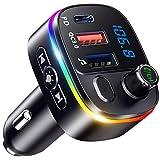 Bovon Transmetteur FM Bluetooth, PD18W & QC3.0 Chargeur Allume Cigare Adaptateur...