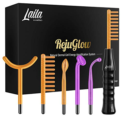 RejuGlow Portable Skin Tightening Wand – Reinvigorates Skin – Anti-Ageing – Wrinkle Remover – Reduces Dark Circles - High Frequency Skin Therapy Wand - Hair Follicle Stimulator