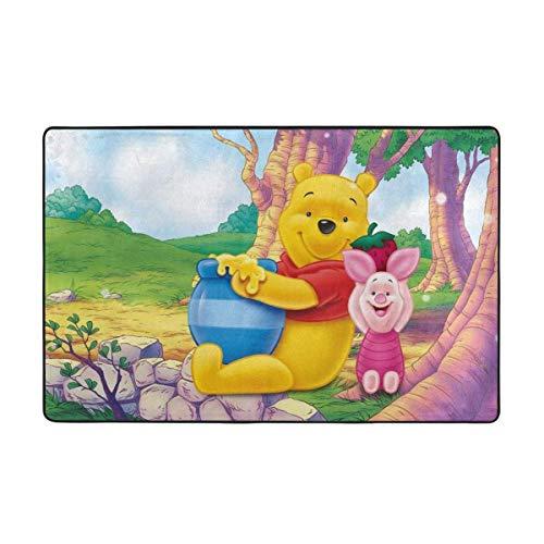 Large Non-Slip Area Rug Winnie Pooh Honey Cartoon Carpet Living Room Rugs Floor Mat Doormats 60 X 39 Inches
