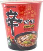 한국의 수입 과자-신컵 프리미엄라면