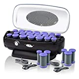 INFINITIPRO BY CONAIR Instant Heat Ceramic Flocked Rollers w/ Ionic Generator, Retractable Cord Reel, 20 count
