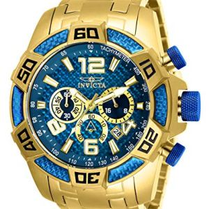 Invicta Men's Pro Diver Quartz Diving Watch with Stainless-Steel Strap, Gold, 26 (Model: 25852)