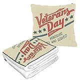 Well Traveled Honor Alfombrilla para siesta American Happy Veterans Day con almohada y manta 50 × 60.23 pulgadas Alfombrilla para siesta combinada 2 en 1 cálida y suave con almohada y manta Camping,
