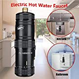 Mini Chauffe-Eau électrique instantané système de Production d'eau Chaude sans réservoir pour Douche sans Chauffe-Eau pour Cuisine et Salle de Bain, 220V 5.5KW(Noir)