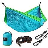 Terra Hiker Hamac de Camping, Nylon à Parachute, avec 2 Mousquetons et 2...
