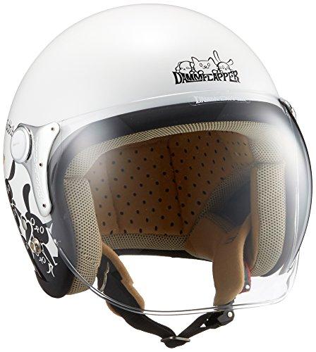 ダムトラックス(DAMMTRAX) バイクヘルメット ジェット CARINA P.WHITE-RABBIT レディースフリー(57~58cm)