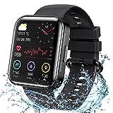 KOSPET Smartwatch, 1.71 Zoll Voll Touchscreen Armbanduhr, Fitness Tracker mit Blutdruckmessung Pulsuhr Schlafmonitor, IP68 Wasserdicht Sportuhr mit Schrittzähler Stoppuhr Smart Watch für Damen Herren