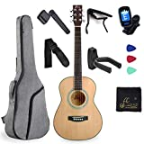 3/4 Spruce Acoustic Guitar for Beginners Students Kids with Advanced Kit, 36 Inches, Right Handed