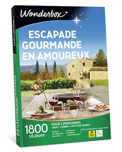 Wonderbox – Coffret cadeau - ESCAPADE GOURMANDE EN AMOUREUX – plus de...