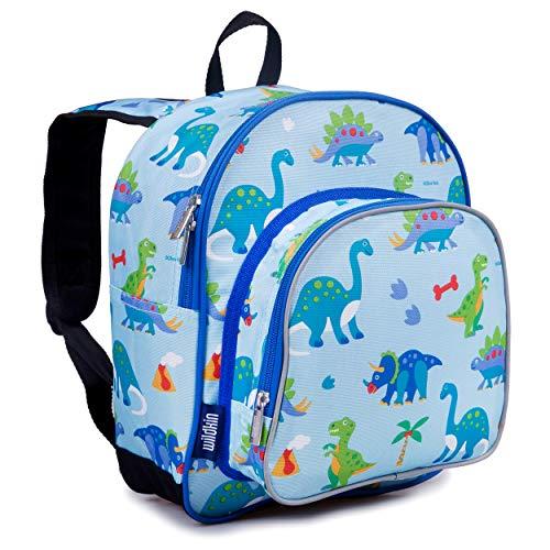 Wildkin 12 Inch Kids Backpack for Toddlers, Boys & Girls, 600 Denier Polyester Backpack for Kids, Ideal Size for School & Travel Backpacks, Mom's Choice Award Winner, BPA-free (Dinosaur Land)