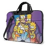 IUBBKI - Maletines para laptops, Bolso de Anime The Simpsons, 15.6 Pulgadas, Bolsa para Laptop con Correa para el Hombro, Bolsa para Cuadernos, Documentos y útiles Escolares