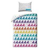 Juego de funda de edredón y funda de almohada para cama individual, reversible, diseño de llamas del drama (100% algodón)