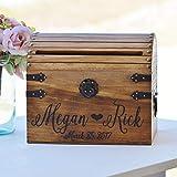 Personalized Wedding Card Box Wood Wedding Card Box with Slot Option 5th Anniversary Gift Wedding Memory Chest Custom Keepsake Trunk