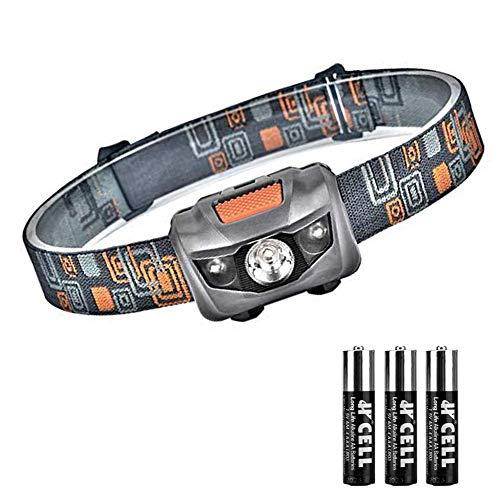 Linkex Torcia Lampada Frontale LED Lampada da testa LED con 4 Modalit di Illuminazione Luce da Testa Perfetta per Correre Camminare Leggere Campeggio o Arrampicata 3 x batterie AAA incluse