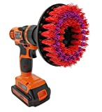 Beast Brush Stiff 5' Drill Brush Attachment Spin Power Scrubber Fast Easy Cleaning, Stiff Bristles Tough Heavy Stains in The Bathroom Shower Tub, Kitchen, Grout, Garage