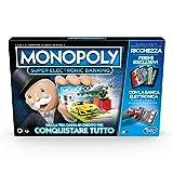 Hasbro Monopoly Super Electronic Banking (gioco in scatola con lettore elettronico per carta di credito, versione in italiano)