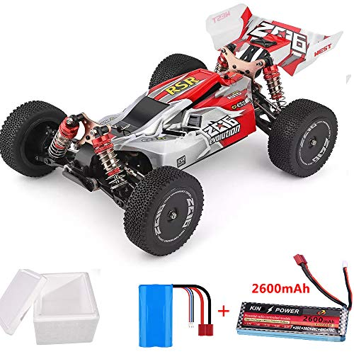 Alician Wltoys 144001 1/14 2.4G 4WD High Speed Racing RC Car Vehicle Models 60km/h 7.4V 2600mAh Battery red