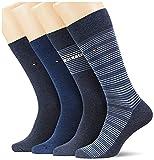 Tommy Hilfiger Stripe Men's Socks Gift Box Chaussette Classique, Jeans, 43 Taille Normale Homme