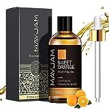MAYJAM Aceites Esenciales de Naranja Dulce 100 ml, 100% Aceites Esenciales Naturales Puros, Aceite...