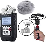 Zoom H4n PRO Multitrack Portable Digital Audio Recorder Bundle with Deadcat Windscreen, Shockmount, Camera Mount and Mic Grip