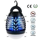 BACKTURE Lampe Anti-Moustique, 2 en 1 Lampe Camping, 3 Mode Luminosité Lanterne Camping Anti Moucheron...