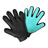 Pet Grooming Glove Hair Remover Brush Hair Removal Gloves Bathing Gloves Skin Friendly,Topcoat Undercoat Removal, Easily Groom Long Hair and Short Hair of Cats Dogs Pets (Green)