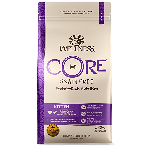 Wellness CORE Grain-Free Kitten Formula Dry Cat Food, 5 Pound Bag