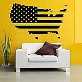 WERWN Pegatinas de Pared con Mapa de Estados Unidos, diseño de Bandera Americana, fotografía, Vinilo, Pared