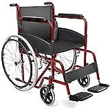 AIESI® Fauteuil Roulant pliable léger à autopousser pour les handicapés et...