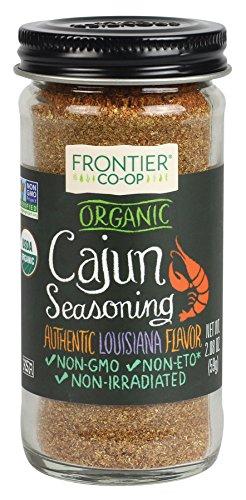 Frontier Cajun Seasoning Certified Organic, 2.08-Ounce Bottle