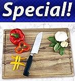 Gourmet Acacia Cutting Board with...