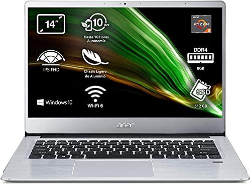 Acer Swift 3 - Ordenador Portátil 14' Full HD, Laptop (AMD Ryzen...