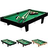 Mini Table de Billard 92x52x19cm, Couleur au Choix Bois Clair, Bois foncé ou...
