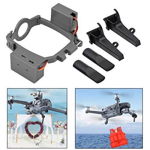 iEago RC Trasportatore Doppio Rilascio Trasporto Rilascio dell'esca Pesca Sistema Caduta dell'Aria, Dispositivo di Consegna Drone Proposta di Matrimonio per con DJI Mavic 2 PRO/Zoom