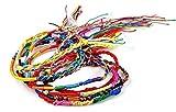 Hemlock Wholesale Handmade Bracelet, Women Girl's Colorful Rope Bracelet Braid Strands Boho Dance Bracelets (20pcs)