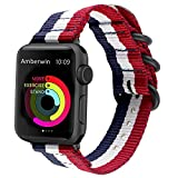Nylon NATO iWatch Band Replacement Strap for Apple Watch Series 5/4/3/2/1