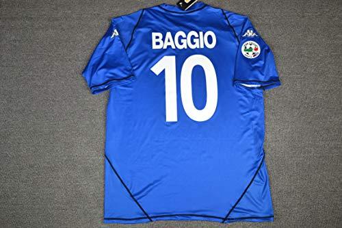 Baggio#10 Brescia Retro Soccer Jersey (Blue, L)