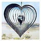 Alliwa Windspiele für Draußen Hängend Liebe Herz Ornament Windspiele Garten Metall, Wetterbeständig, Dekoration zum Aufhängen (A)