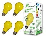 4x greenandco Ampoule LED anti-moustiques, anti insectes E27, jaune, 5W,...