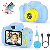 Camara para Niños Juguetes para Niño Regalos para Niños Pantalla HD de 2 Pulgadas 1080P Tarjeta de 32GB TF Regalos Juguete para Niños 3 a 12 años de Niños y Niñas Cumpleaños (Azul)